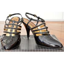 Zapatos Sandalias Stilettos Fiesta Tango Clasico De Charol