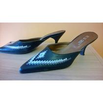 Stillettos Zapatos Sandalias N° 38 Con Bordado Nuevos!!!