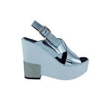 Zapato Sandalia Con Plataforma - Tiras Cruzadas