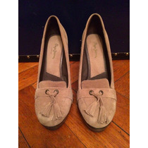 Zapatos Mujer Taco Alto Color Camel Beige Pepe Jeans Imp