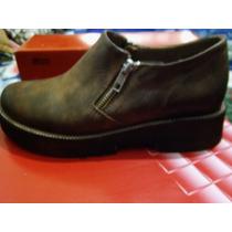 Zapatos Clona Con Cierre En Los Costados