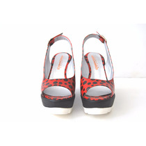 Zapatos Cuero Mujer Sueco Sandalia Pin Up Rock