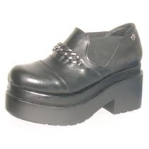 Zapatos Mocasines Plataforma Cuero Vacuno Citadina