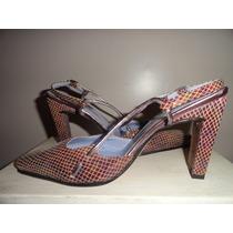 Zapatos Mujer Fiesta Cuero Labrado Liquidación