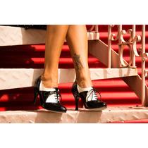 Zapatos De Baile Para Mujer Charol Y Cuero Blanco