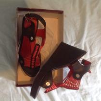 Zapatos Sandalias Alonso Con Plataforma Talle 38 Impecables