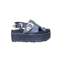 Zapatos Mujer Plataformas Sandalias Hebillas Cuero Paradisea