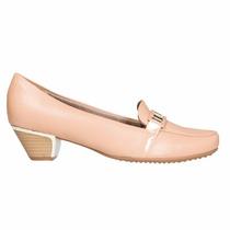Zapato Mocacin Mujer Cuero Sintetico Beige Piccadilly
