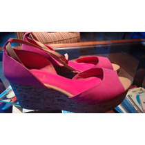 Sandalias Zara Color Fuxia Talle 39