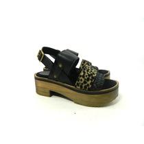 Mujer Plataforma Zapato Verano Cuero Magali Shoes