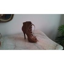 Zapatos Taco Alto Acordonados