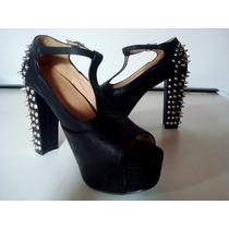 Zapatos Con Plataformas Importados Con Tachas. Impactantes!!