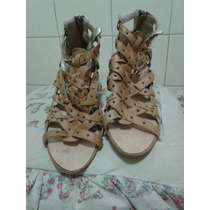 Zapatos Lucerna Cuero Con Tachitas Nro 38