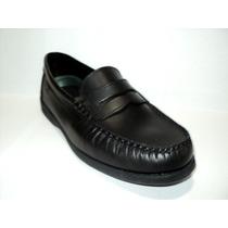 Zapato Mocasín De Hombre En Cuero Negro Febo