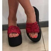 Sandalia Con Plataforma Faja Verano 2016 Ultima Moda