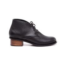Zapato Bota Acordonada Con Taco Floater Negro #225 -natacha
