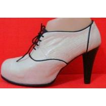 Zapatos Plataforma Escondida 37cuero Crudo Negro (ana.mar)