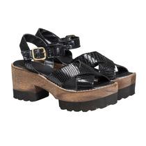 Sandalias Zapatos Plataforma Eco Mujer Almacen De Cueros