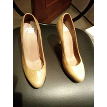 Elegantes Stilettos De Cuero Semi Nuevos !!