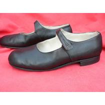 Zapato Colegial Escolar Usos Multiples Nº 37 38 Cuero Exc
