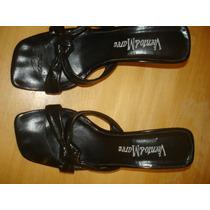 Zapatos -sandalias Cuero-negro-marca Viento Y Marea-nro. 36