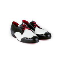 Zapatos Abotinados Acordonados Oxford Derby Cuero Y Charol