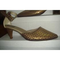 Stileto Dorado Tipo Sandalia Talle 36