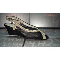 Zapatos De Mujer Sandalias Anny De Cuero Taco Chino