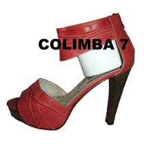 Viamo Zapatos Stilettos Sandalias Cuero Nueva N°38 T/ Alto