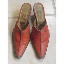 Zapatos Suecos Mocasin Cuero Con Pespuntes Y Tachas. Mira!
