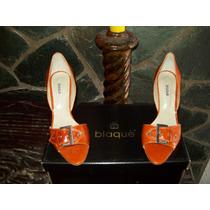 Para El Verano...geniales!!! Zapatos De Cuero Blaque (nº40)