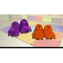 Pantuflas Peluche Garras De Niños(as)colores 27/34por Mayor