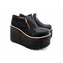 Zapato Dos Cierres Plataforma Taco
