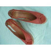 Sandalia Plataforma Nº 39 A Estrenar Color Coral