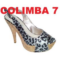 ¡¡ Viamo Sandalias Plataforma Cuero Mod. Cometa Nueva N°39
