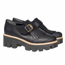 Borceguito Borcego Plataforma Zapatos Almacen De Cueros