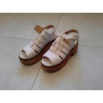 Zapatos Zuecos Blancos De Verano