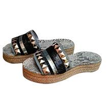 Clippate Sandalias Zapatos Plataformas Tachas Yute Verano
