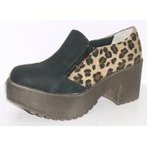 Mocasines Plataforma Con Doble Cierre Zapatos Calzados Cris
