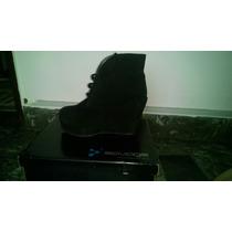 Zapatos Simil Taco Chino, En Beige Y Bordo, Talle 37.