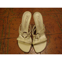 Sandalias Finísimas N° 37 Color Natural Ecocuero, Impecables