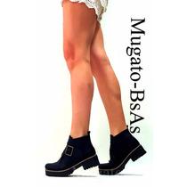 Botas Mujer Borcegos Con Plataforma Del 35 Al 41 Otoño 2016