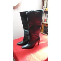 Botas Negras Caña Alta 37 Lady Comfort-belgrano/quilmes