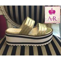 Zapato Sandalia Semi Alta Con Plataforma Rayada!! :)