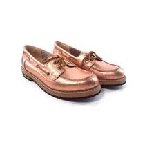 Zapatos Mocasines Nauticos Cuero Mujer Magali Shoes