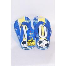 Ojotas Boca Juniors Licencia Oficial Niños 28 Al 34