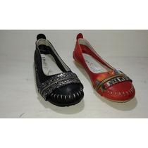 Chatitas Ballerinas Zapatos De Mujer Cuero