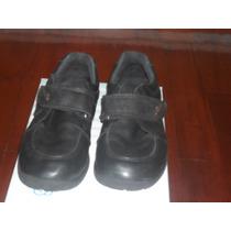 Zapatos Niño T34 Cuero 100%, Negro En Muy Buen Estado
