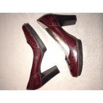 Zapatos Stillettos Mujer Cuero Y Charol Prüne