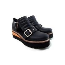 Zapatos Franciscanas Cuero Mujer Plataforma Magali Shoes